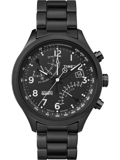 Walmart – Timex  Men's Intelligent Quartz Fly-Back Chronograph Black Watch Only $79.99 (Reg $225.00) + Free 2-Day Shipping