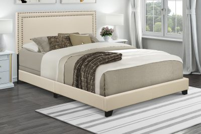 Walmart – Home Meridian Cream Upholstered Queen Bed  Only $139.99 (Reg $149.00) + Free Shipping