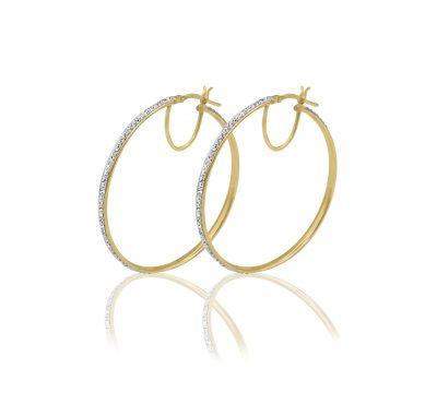 Walmart – 10kt Crystal Large Round Hoop Earrings Only $29.88 (Reg $36.99) + Free Store Pickup
