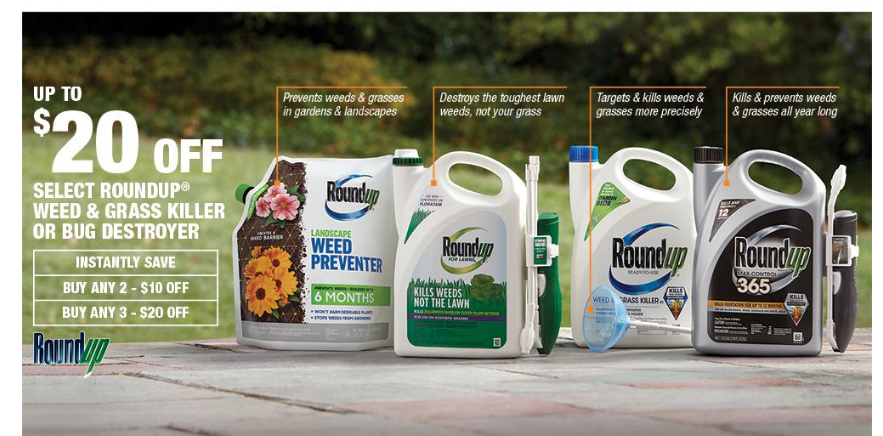 HomeDepot.com – Save Up To $20 Off Select Roundup Products