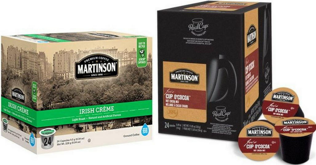 Amazon – Martinson Coffee 24-Count K-Cups Only $6.55 (Just 27¢ Each) + Free Shipping!