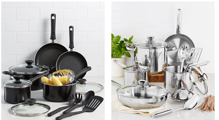 Macy's.com – Tools Of The Trade Nonstick OR Stainless Steel 13-Pc. Cookware Set Only $39.99, Reg $119.99 + Free Store Pickup!