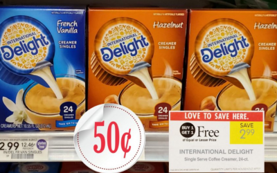 Publix Deal Starting 3/27/19 International Delight Single Serve Creamer, 24-ct. Box Only 50¢
