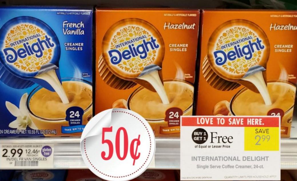 Publix Deal Starting 3/27/19 International Delight Single Serve Creamer, 24-ct. Box Only 50¢