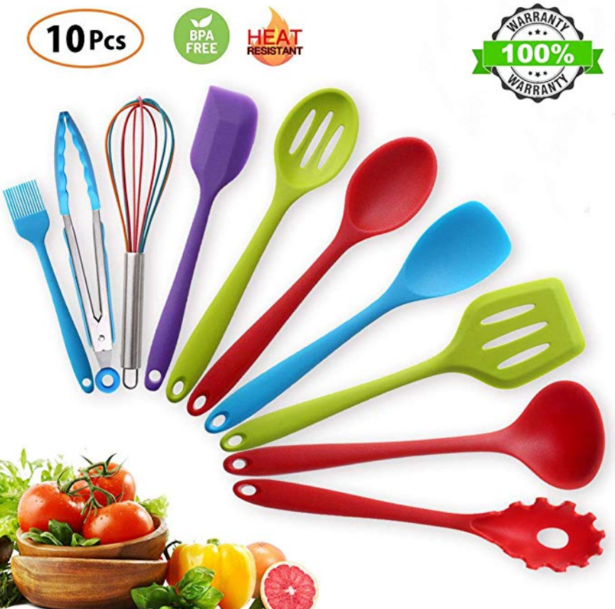Amazon – 10 pcs Kitchen Silicone Utensil Cooking Set Only $15.06, Reg $25.96 + Free Shipping!