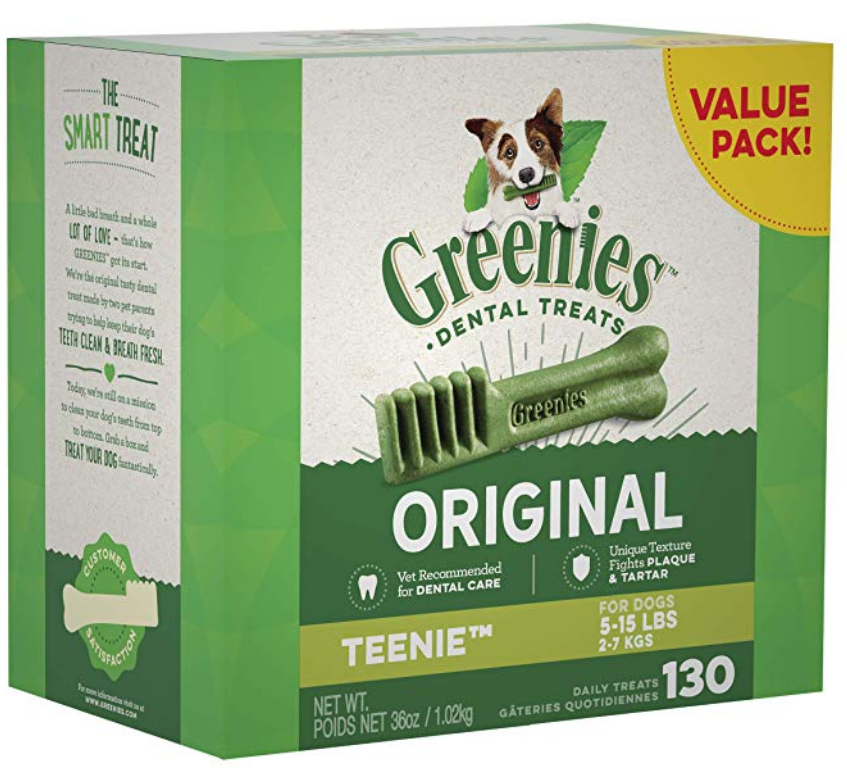 Walmart.com – Greenies Dental Dog Treats 130-Count AND $20 Walmart eGift Card Only $33.99 ($54 Value)