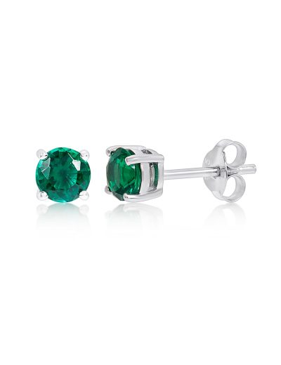Walmart – Sterling Silver Created Emerald Stud Earrings Only $29.88 (Reg $39.99) + Free Store Pickup
