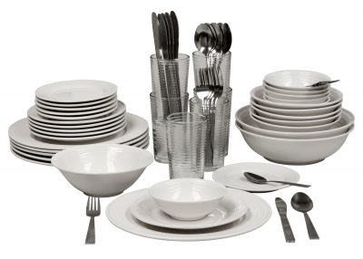 Walmart – 10 Strawberry Street Nova White Round 62-Piece Dinnerware Set Only $49.00 (Reg $79.99) + Free Shipping