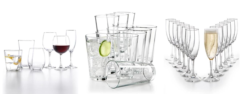 Macy's – Martha Stewart Essentials 12-Piece Glassware Sets Only $9.99 (Regularly $30)