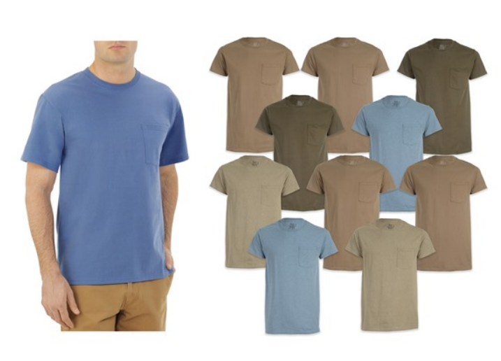 Woot – Fruit Of the Loom 10 pack Pocket Tees Only $21.99 ($2.20 Per Shirt)