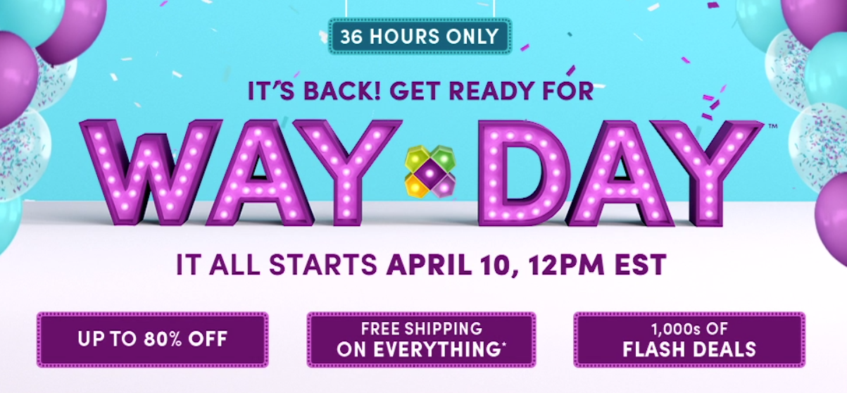 Wayfair – WAY DAY Sale Starts TODAY at 12 pm EST – Up To 80% Off Thousands Of Items + Free Shipping!