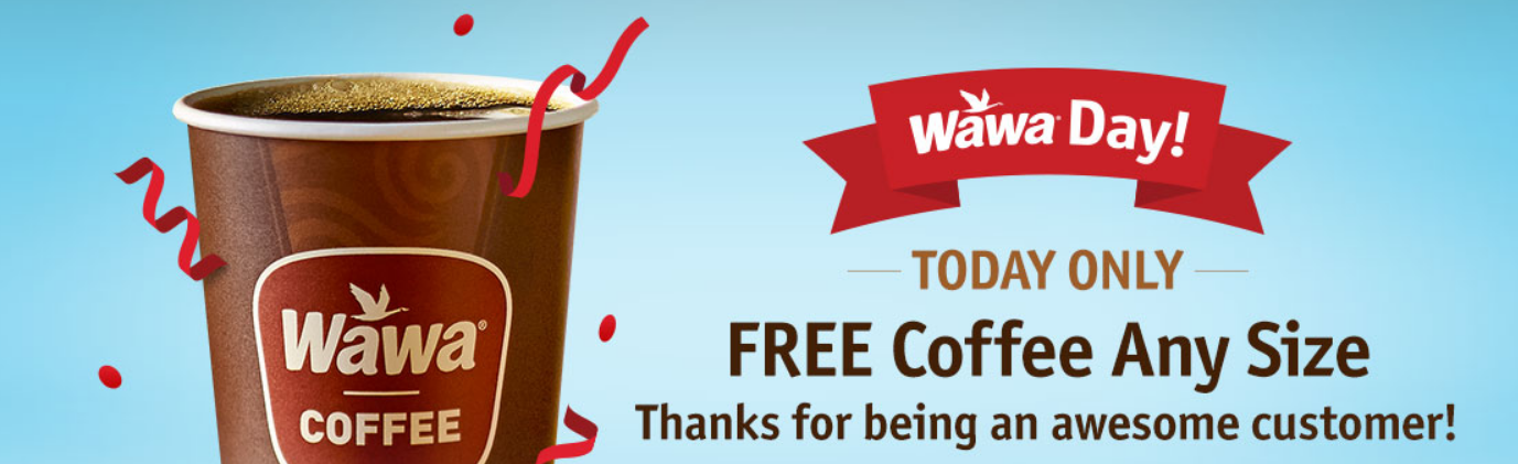 Wawa (Today Only) – Free Coffee, Hot Tea or Self-Serve Cappuccino