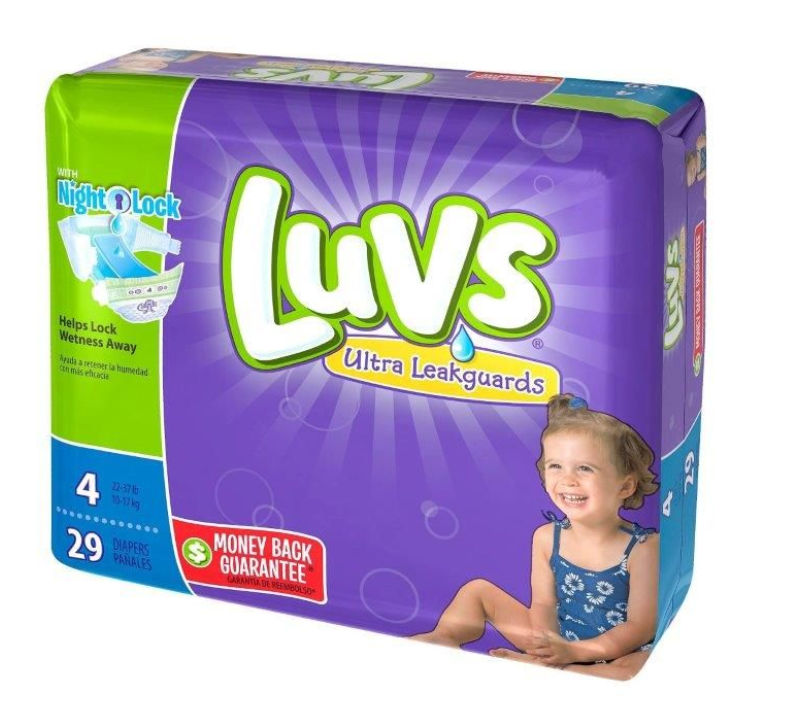 Walmart – Luvs Jumbo Pack Diapers Only $3.94