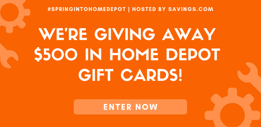 #SpringIntoHomeDepot Giveaway – Win One Of (10) $50 Home Depot Gift Cards