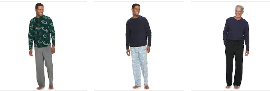 Kohls Cardholders – Men's Croft & Barrow Pajama Pant & Top Set (Various Colors) $5.60 + Free Shipping!