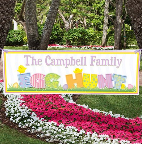 Walmart.com – 2′ x 6′ Personalized Family Easter Egg Hunt Banner Only $12.97, Reg $20.83 + Free Store Pickup!