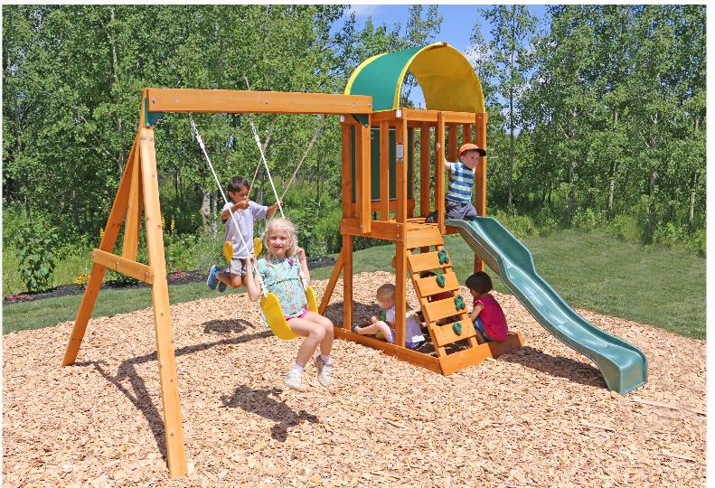 Walmart.com – KidKraft Ainsley Wooden Swing Set Only $279.00, Reg $399.00 + Free Shipping!