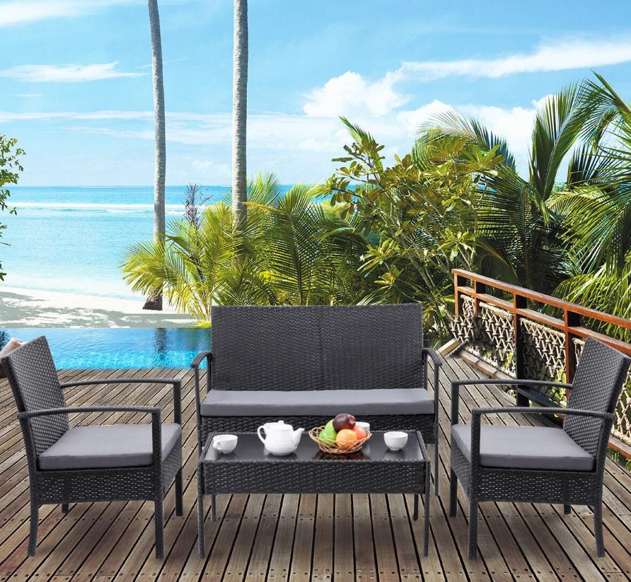 Rakuten.com – 4 Piece Costway Outdoor Patio Furniture Set $158 + Free Shipping!