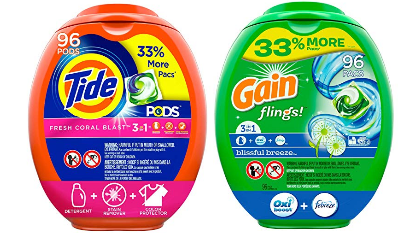 Amazon – 96 Count Tide Pods or Gain Flings Laundry Detergent Pacs (Various) from $16.10 w/ S&S + Free Shipping!