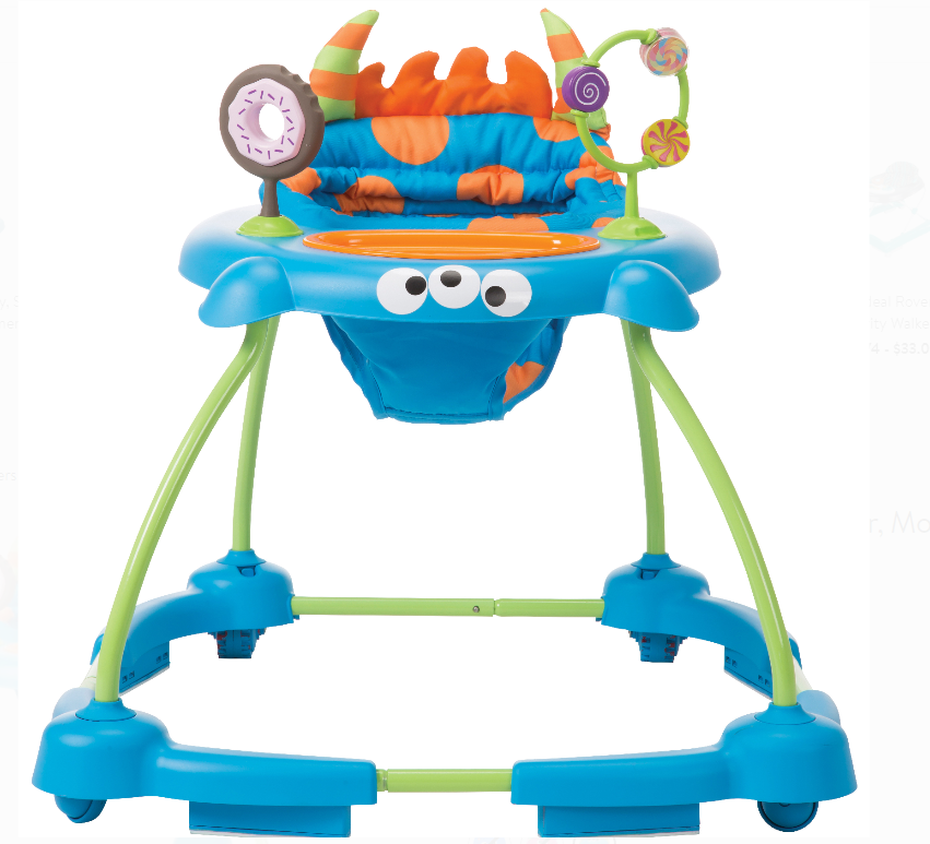 Walmart.com – Cosco Simple Steps Baby Walker, Monster Syd Only $27.56, Reg $44.99 + Free Store Pickup!