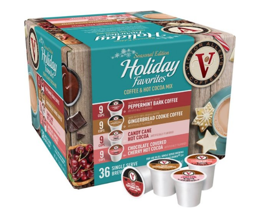 BestBuy.com – Victor Allen's 36-Pack Seasonal Edition Holiday Favorites Coffee Pods Only $4.99, Reg $19.99 + Free Store Pickup!