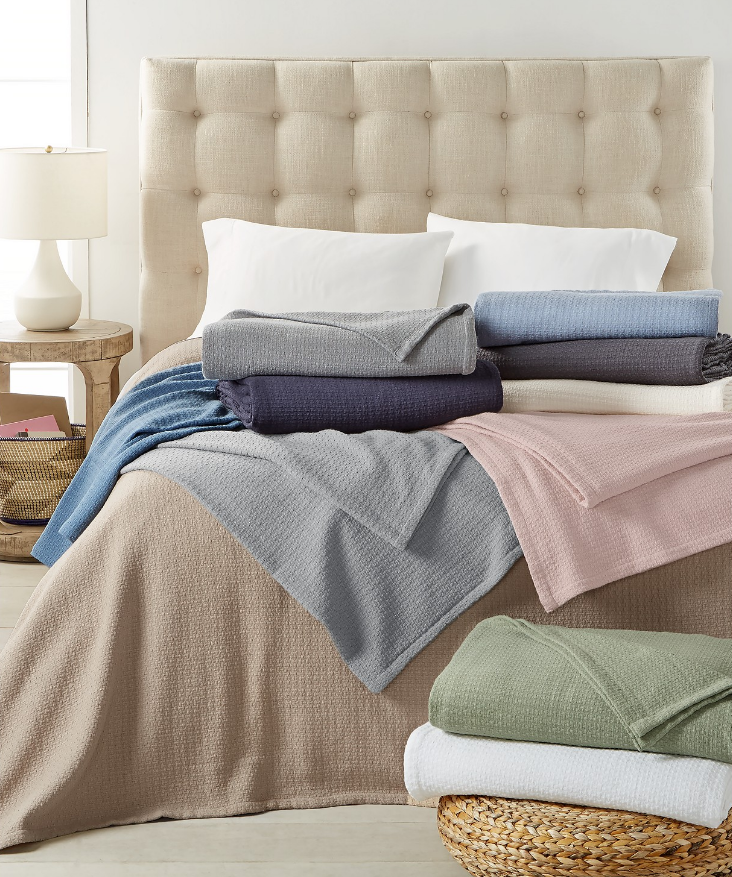 Macy's.com – Ralph Lauren Cotton Blankets As Low As $17.99, Reg $90 (80% Off ) + Free Store Pickup!