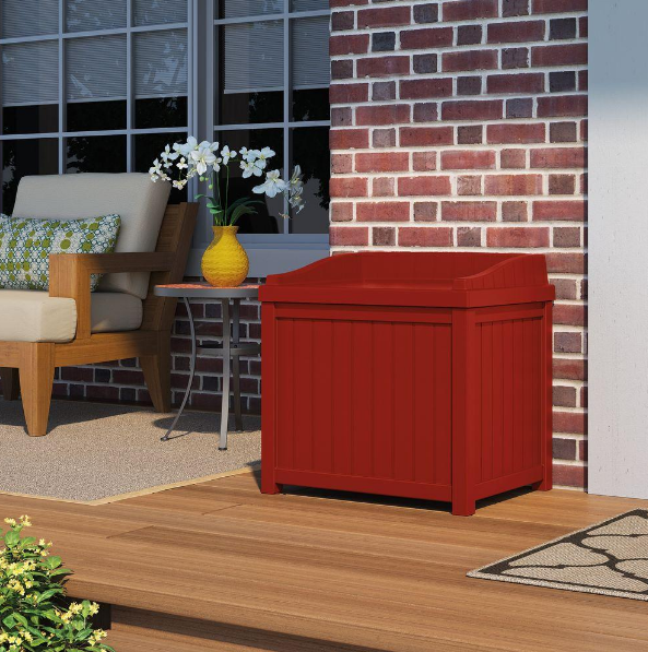 HomeDepot.com – Suncast 22 Gal. Storage Seat Deck Box Only $29.99, Reg $41.86 + Free Store Pickup!