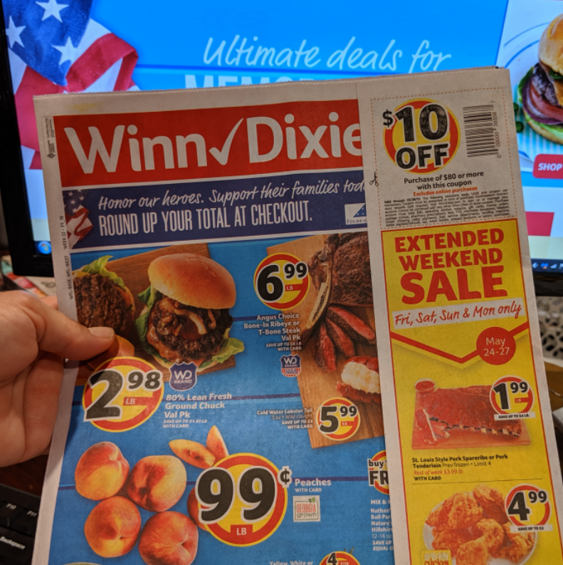 Winn Dixie – $10/$80 Store Coupon In The 5/22-5/28 Store Ad