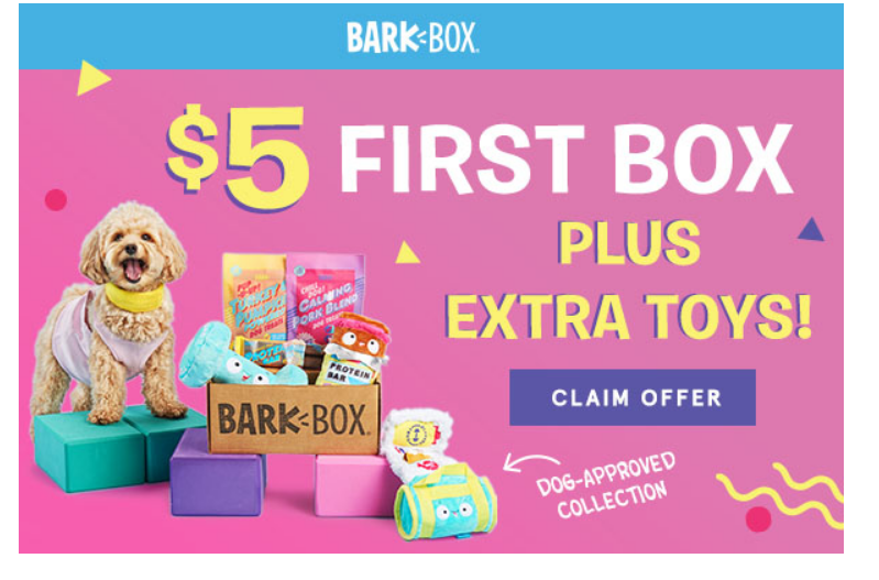 Barkbox – First Box Only $5.00 + A Free Toy In Every Box + Free Shipping!