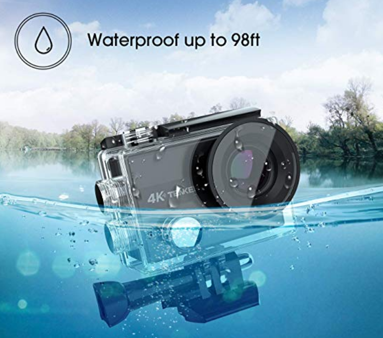 Amazon – TENKER 4K Action Waterproof Camera W/ WiFi, 16MP,  Wide View Angle, 2.4G Remote Control and 30 Accessories Only $29.99 Shipped!