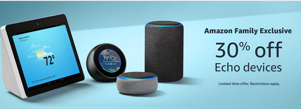 Amazon – 30% Off Select Echo Devices = Echo Dot 3rd Generation Just $18 Each + Lots More!