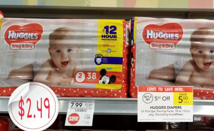 Publix – Huggies Snug & Dry Diapers Only $2.49 each
