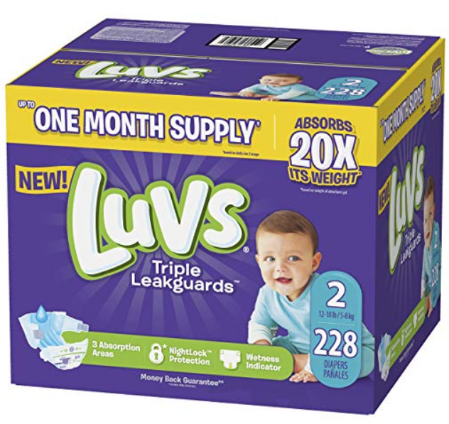 Amazon – Luvs Diapers One-Month Supply as Low as $16.78 Shipped ( 7¢ Per Diaper)