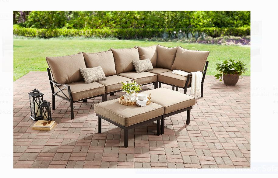 Walmart.com – Mainstays Sandhill 7-Piece Outdoor Sofa Sectional Set Only $375, Reg $699 + Free Shipping!