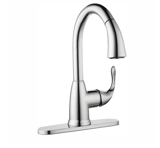 Home Depot – Glacier Bay Pull-Down Kitchen Faucet Only $47.88, Reg $109 + Free Shipping!