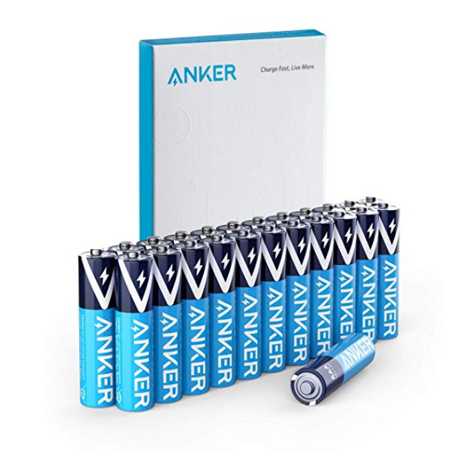Amazon – 24-Count Anker Alkaline AAA Batteries Only $6.50, Reg $13.00 (Save 50%)