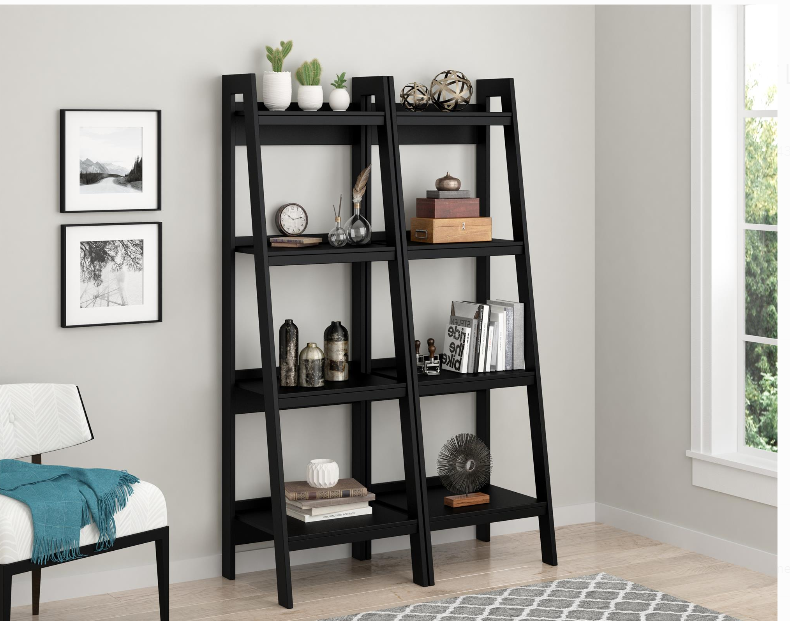 Walmart.com – Get (2) Ameriwood Home Hayes 4 Shelf Ladder Bookcase For Only $99.97, Reg $124.98 + Free Shipping!