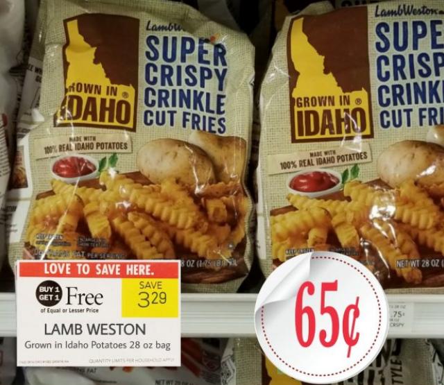 Publix – Lamb Weston Grown in Idaho Potatoes (28 oz Bag) Only 65¢ Each