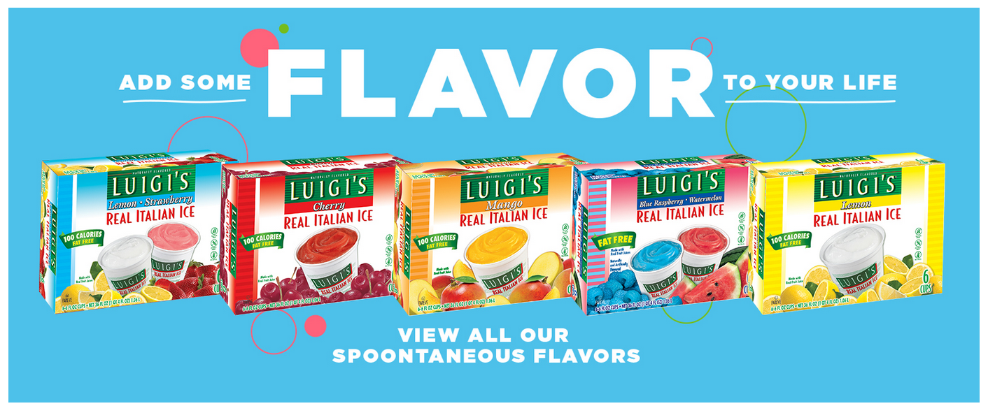 Print 75¢ off On one (1) Box Of LUIGI'S Real Italian Ice Coupon – Pay Only $1.12 At Walmart!