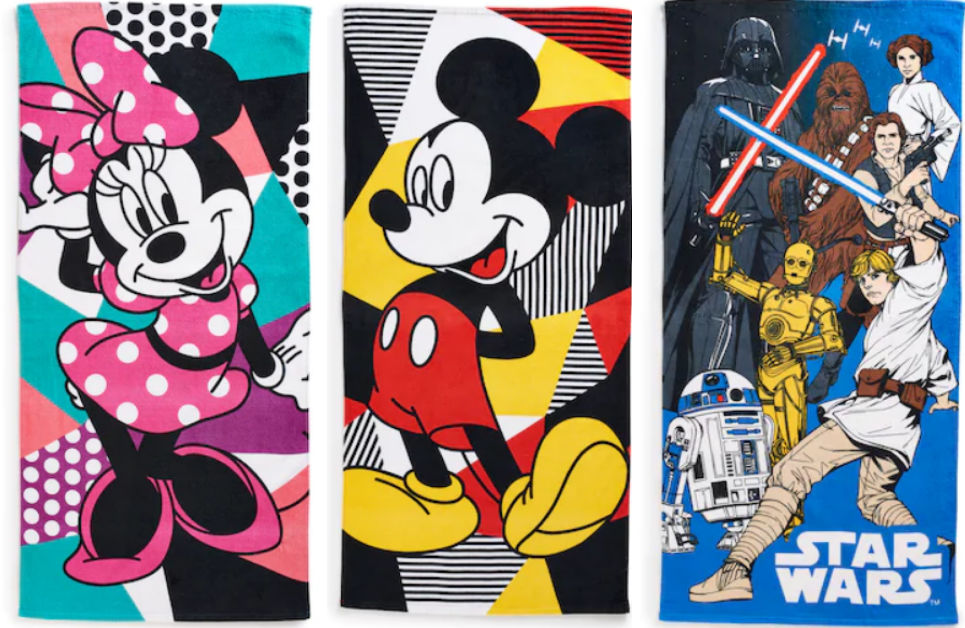 Kohl's – Beach Towels Only $3.23, Reg $23.99 + Free Shipping! (Disney, Starwars, Emoji, Patriotic and More)