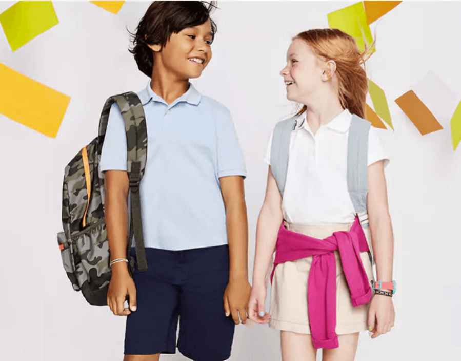 Old Navy – 50% Off Kids School Uniforms (In-Store & Online) + Free Store Pickup!