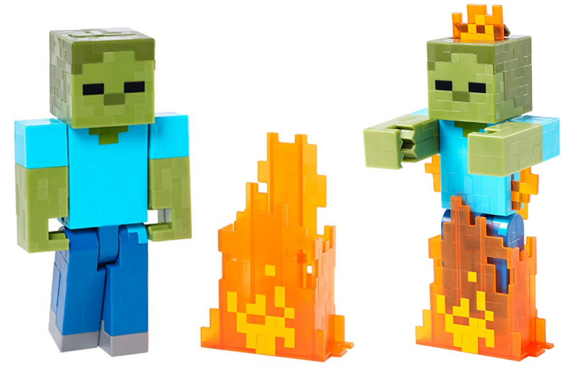 Amazon – Minecraft Series 2 Zombie with Pop Out Flames Action Figure $14.99, Reg $49.99