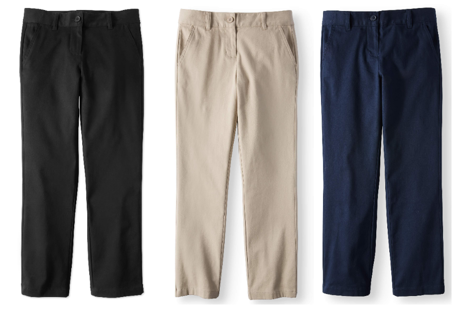 Walmart.com – Wonder Nation Girls School Uniform Stretch Twill Straight Fit Pants Only $5.75, Reg 9.47 + Free Store Pickup!