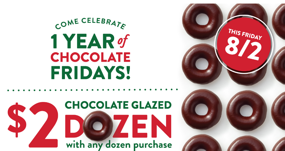 Krispy Kreme – $2 Chocolate Glazed Dozen W/ Any Dozen Purchase (TODAY ONLY!)
