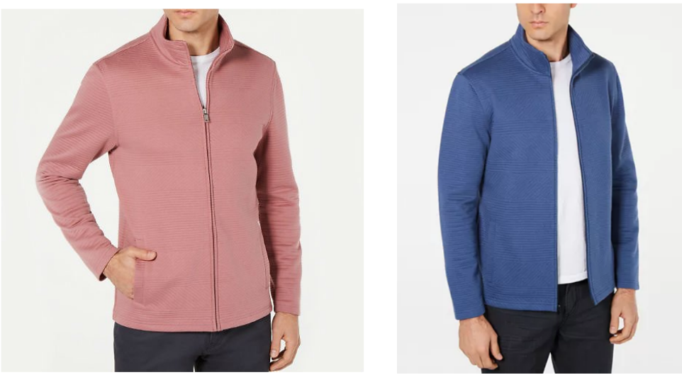 Macy's.com – Alfani Men's Textured Zip-Front Jacket (2 Colors) Only $9.96, Reg $75 + Free Store Pickup!