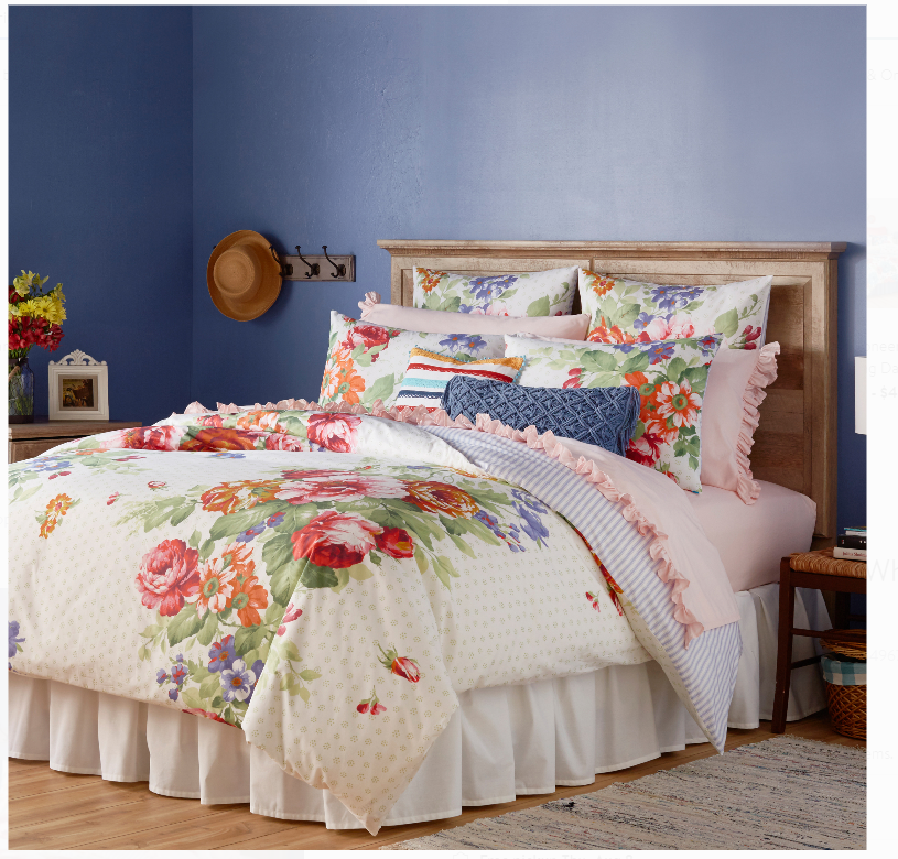 Walmart.com – The Pioneer Woman Reversible Queen Duvet Cover Only $18.26, Reg $57.20 Free Store Pickup!