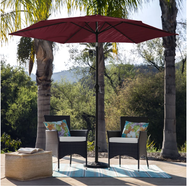 10′ Outdoor Steel Market Patio Umbrella with Tilt & Crank Only $35.99, Reg $101.00 + Free Shipping!