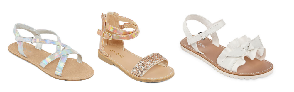 JCPenney.com – Girls and Toddlers Sandals Only $10.49, Reg $40 + Free Store Pickup!