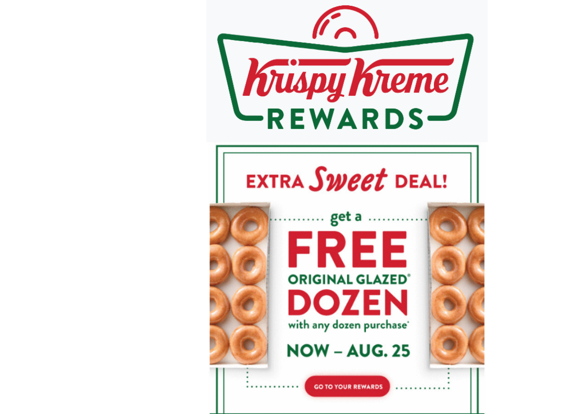 Krispy Kreme – Free Original Glazed Dozen W/ Any Dozen Purchase