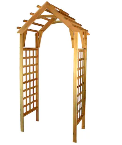 Lowe's – Garden Architecture 7.4′ Natural Cedar Garden Arbor Only $42.25, Reg $169.00 + Free Store Pickup!